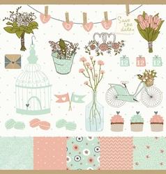 Set for wedding design vector image vector image