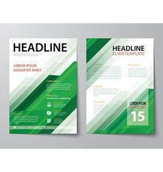 set of business magazine cover flyer brochure vector image
