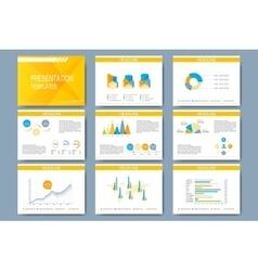 Set of template for presentation slides vector image