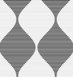 Shades gray striped bulging waves merging vector