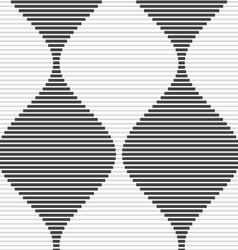 Shades of gray striped bulging waves merging vector
