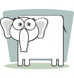 square animal elephant vector image