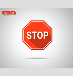 stop icon prohibition no symbol red circle vector image
