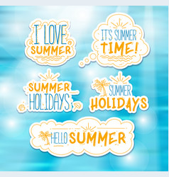 Summer badges vector