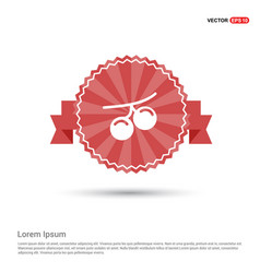 summer grape icon - red ribbon banner vector image