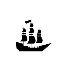 the ship prow or argos icon pirate vector image