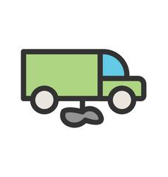 Truck leaking fuel vector