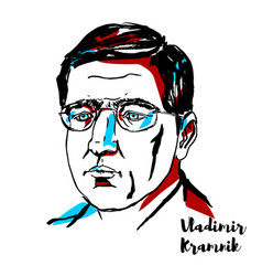 Vladimir kramnik portrait vector