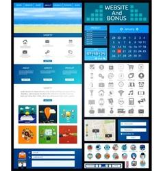 Website page template Web design vector