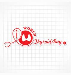 world thyroid day poster - medical concept vector image