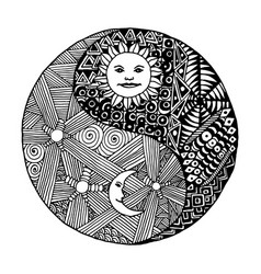 Yin Yang Sun Moon Vector Images 16