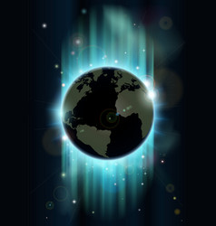 abstract world globe space background vector image vector image