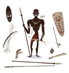 african aboriginal hunter vector image