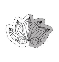 lotus flower decoration monochrome vector image vector image