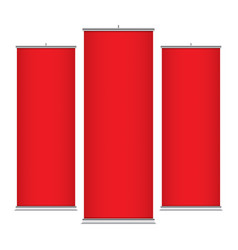 red vertical banner templates vector image