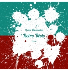 white ink splashes with space for text vector image vector image