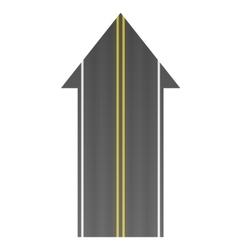 Road arrow vector image vector image