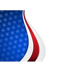 Stars and stripes themed wavy background vector image