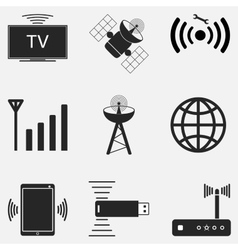 WiFi Icon Set Two vector image