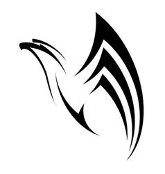 eagle flies up vector image