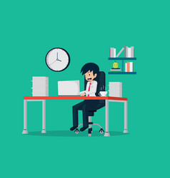 salary man 01 working vector image