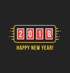 2018 scoreboard like happy new year vector image