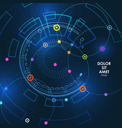 abstract technology background with dots vector image