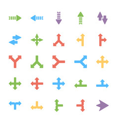 Arrows colored icons set vector
