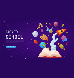 back to school landing page template for sale vector image