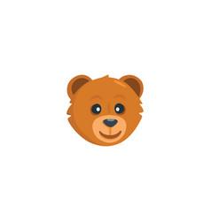 Bear head isolated icon vector