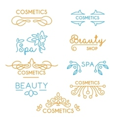 Beauty and Care logo Templates vector image
