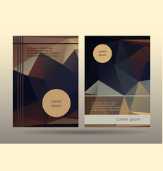 booklet layout templates promotion page design vector image