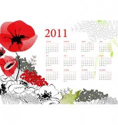 calendar for 2011 vector image