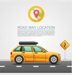 Car travel on location vector