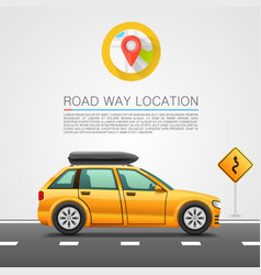Car travel on the location vector