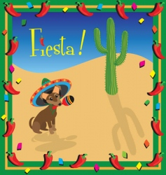 Chihuahua Mexican fiesta party vector image