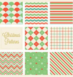 Christmas seamless pattern in vintage style vector