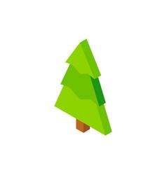 Christmas tree green isometric object vector