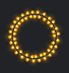 Circular yellow glowing garland vector