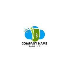 cloud money logo template design vector image