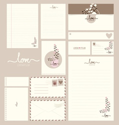 Collection of various paper designs paper sheets vector image