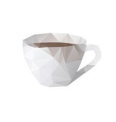 Cup lowpoly vector