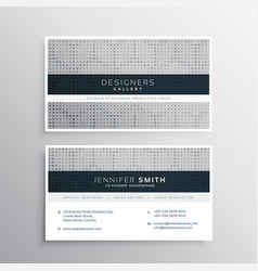 Elegant gray business card design with halftone vector