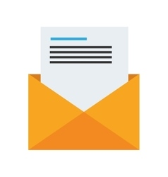 email message design vector image