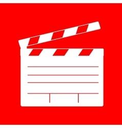 Film clap board cinema sign vector image