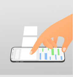 flat social network concept vector image