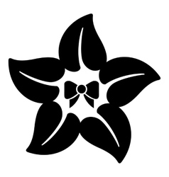 Flower star icon simple style vector