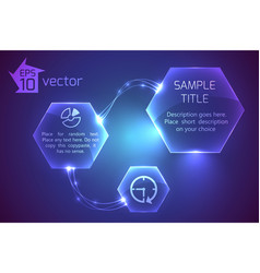 futuristic hexagons template background vector image