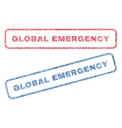 Global emergency textile stamps vector
