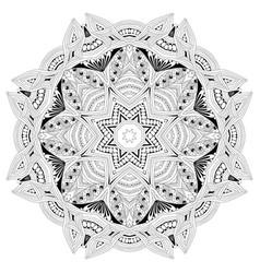 Hand drawn entangle mandala for coloring page vector